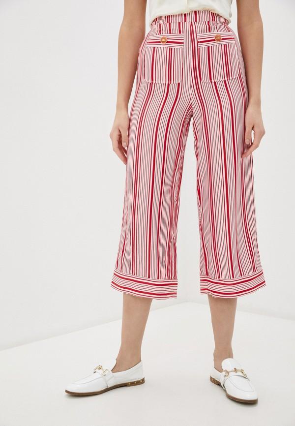 женские повседневные брюки elisabetta franchi, красные