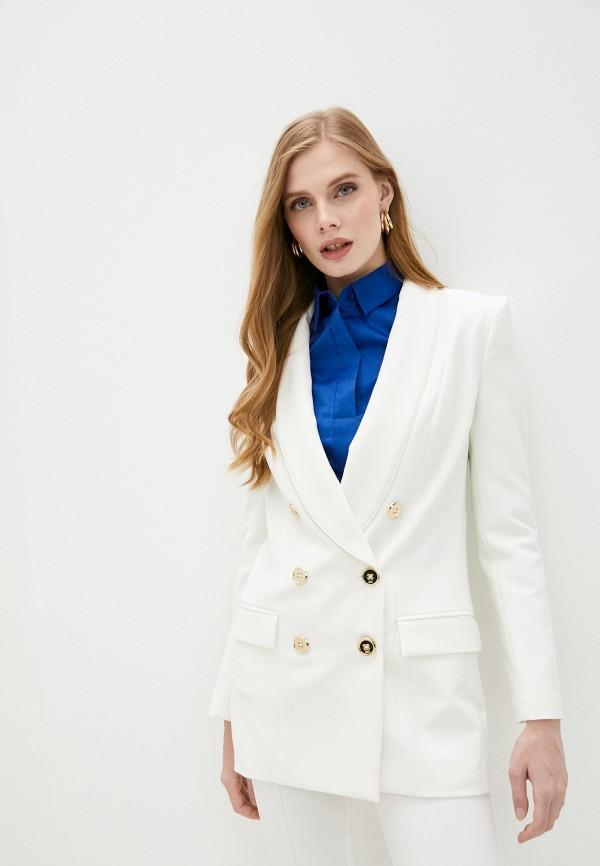 женский пиджак elisabetta franchi, белый