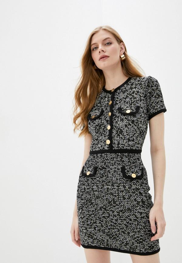 женское повседневные платье elisabetta franchi, серое