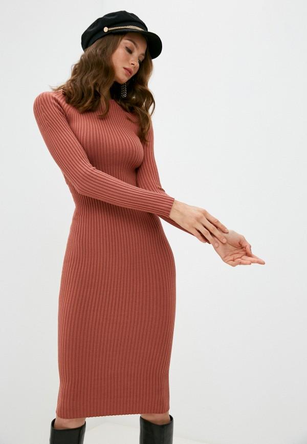 женское платье elisabetta franchi, коричневое