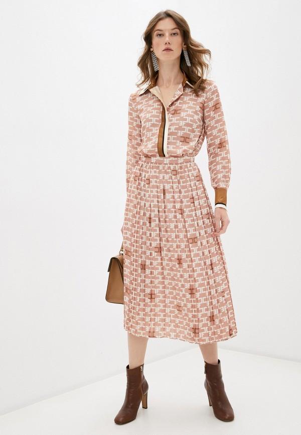 женское повседневные платье elisabetta franchi, бежевое