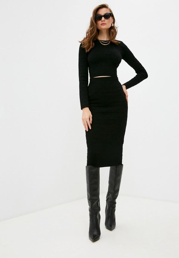 женский костюм elisabetta franchi, черный