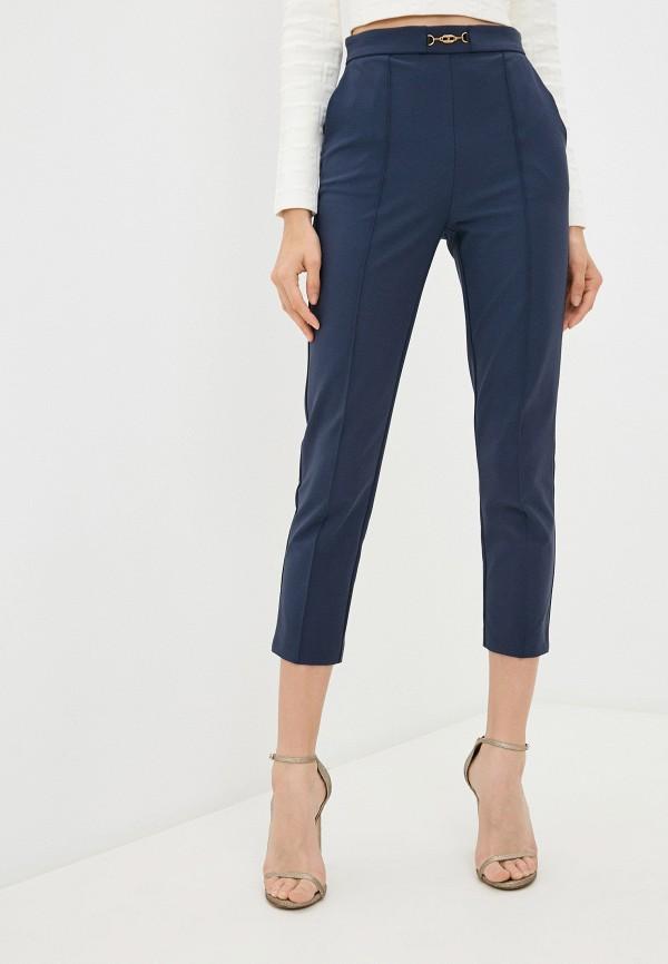 женские повседневные брюки elisabetta franchi, синие