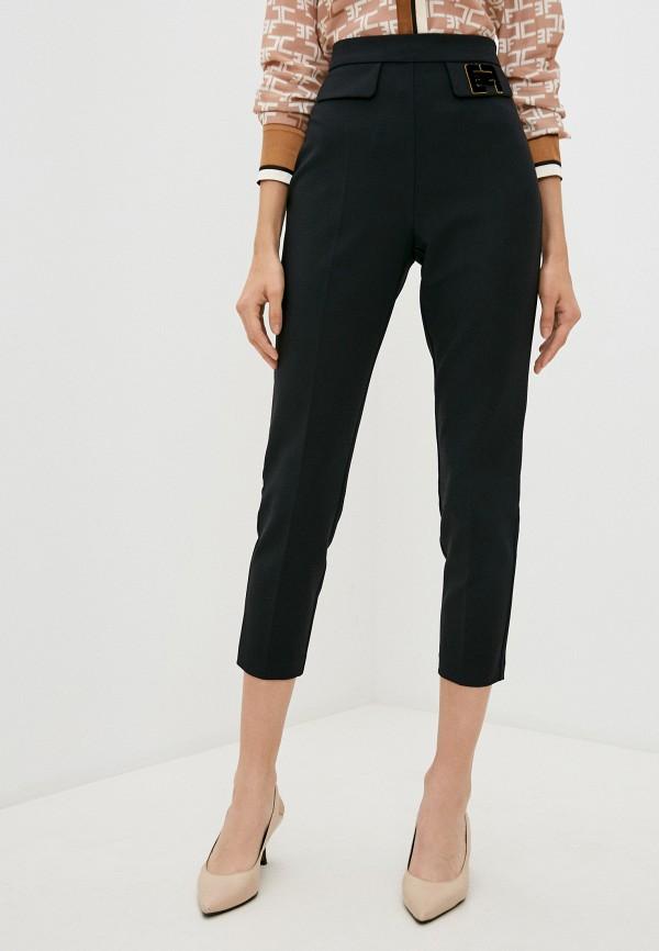 женские повседневные брюки elisabetta franchi, черные