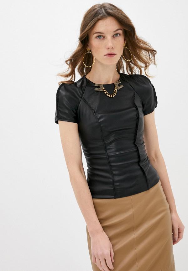 женская блузка elisabetta franchi, черная