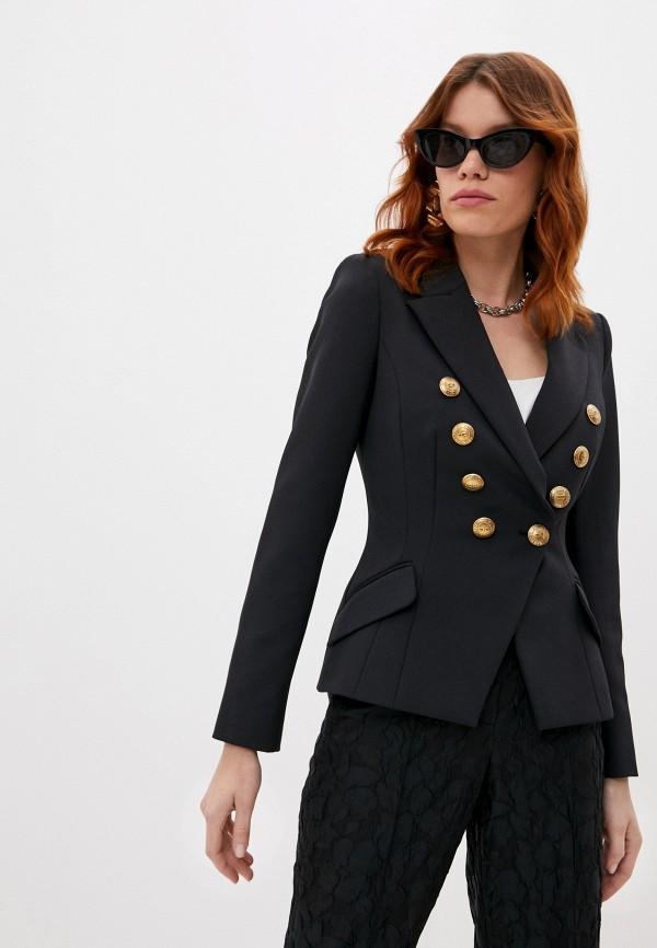 женский пиджак elisabetta franchi, черный