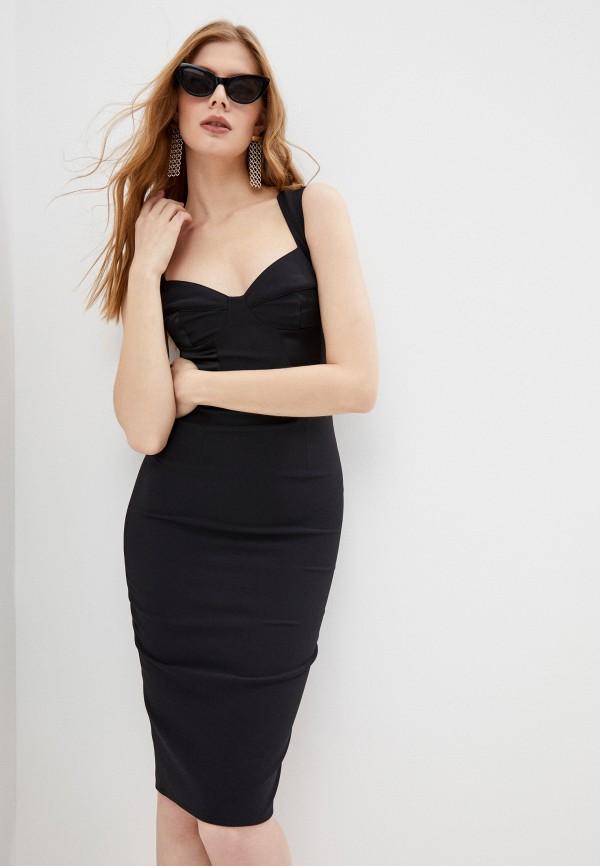 женское платье-футляр elisabetta franchi, черное