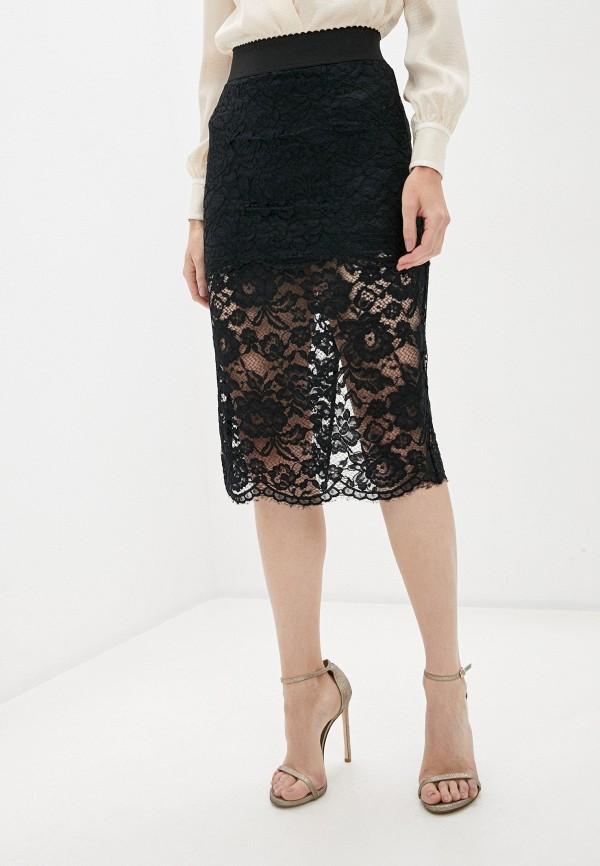 женская зауженные юбка elisabetta franchi, черная