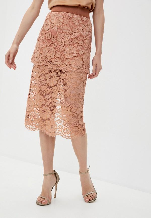 женская зауженные юбка elisabetta franchi, бежевая