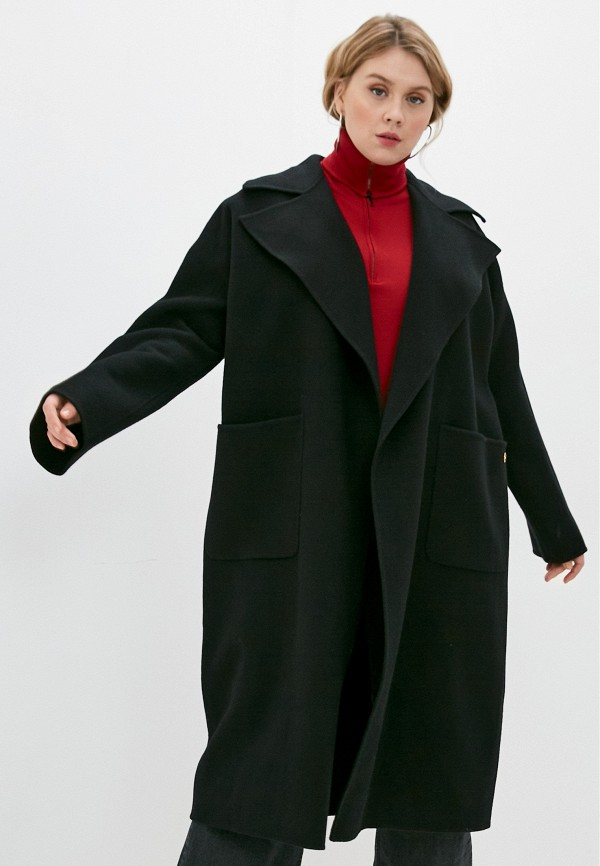 женское пальто elisabetta franchi, черное
