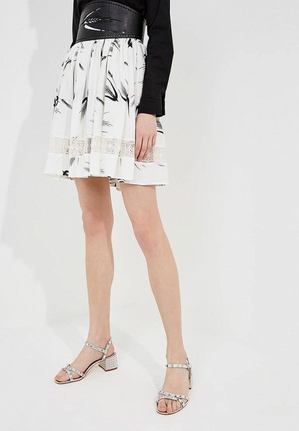 женская юбка мини elisabetta franchi, белая