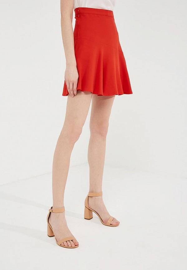 женская юбка elisabetta franchi, красная