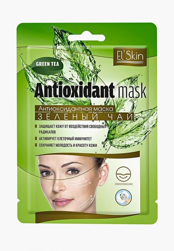 Купить Набор масок для лица El'Skin, Антиоксидантная ЗЕЛЕНЫЙ ЧАЙ, набор из 3 уп, EL042LWBOBY4, зеленый, Осень-зима 2018/2019