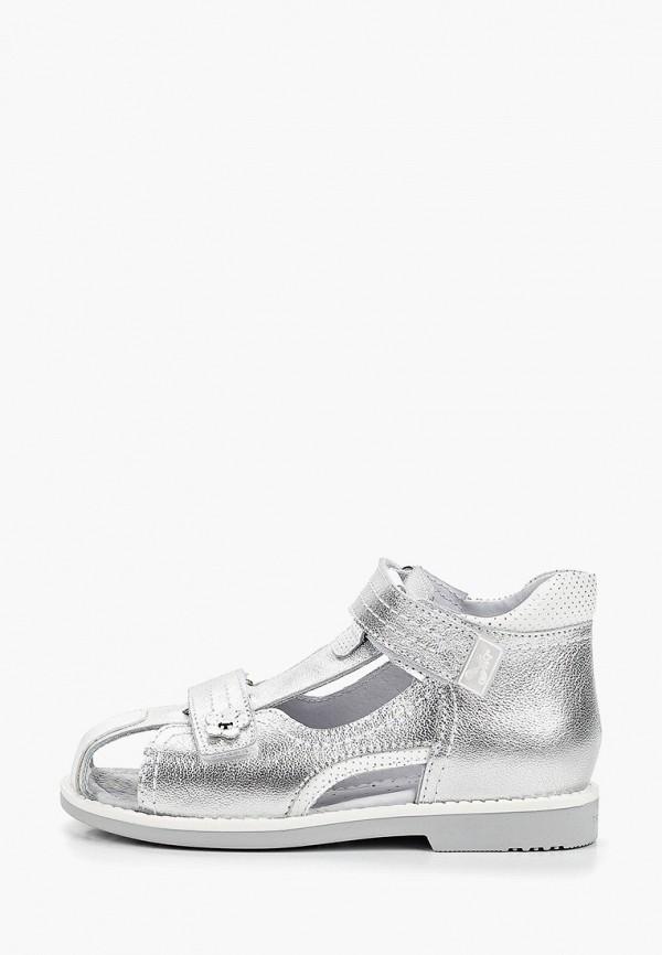 сандалии elegami для девочки, серебряные