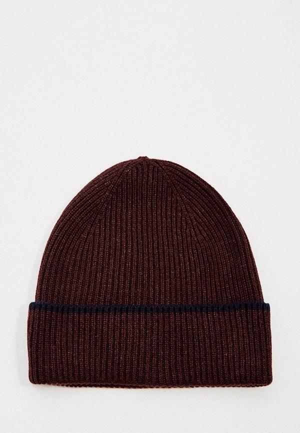 мужская шапка eleventy, бордовая
