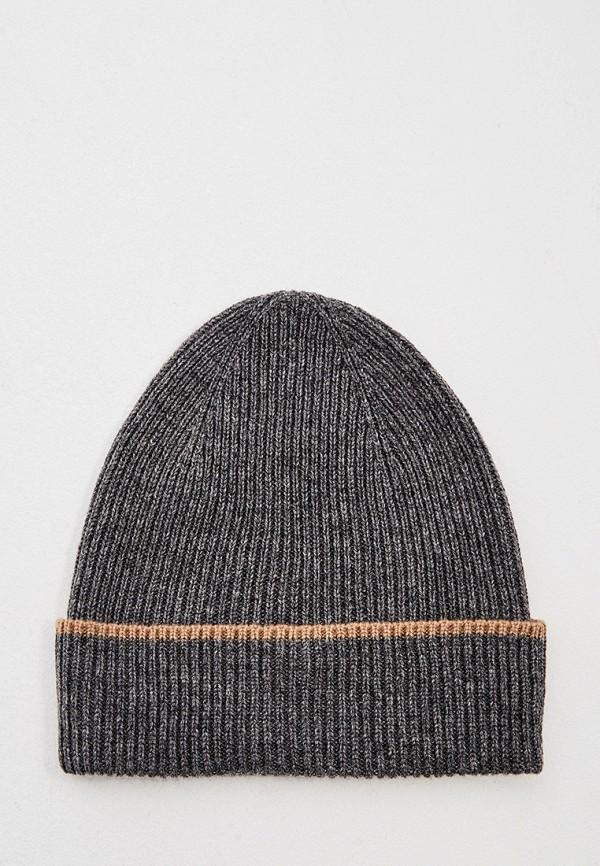 мужская шапка eleventy, серая