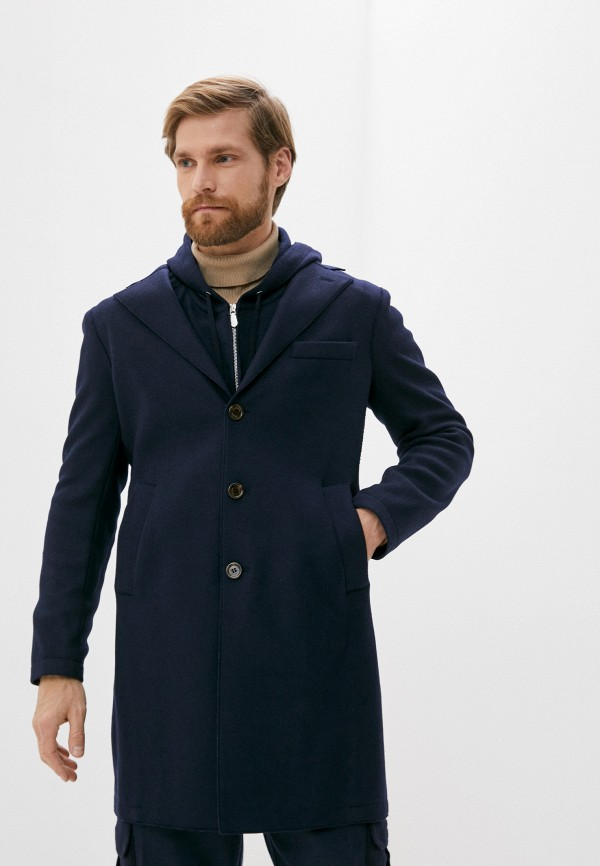 мужское пальто eleventy, синее