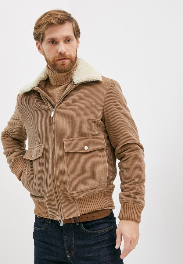 мужская куртка eleventy, бежевая