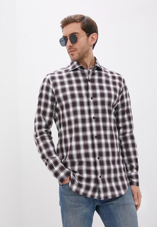 мужская рубашка с длинным рукавом eleventy, бордовая
