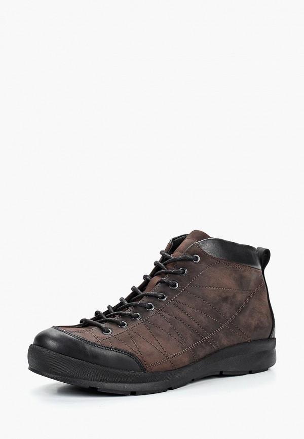 мужские высокие ботинки el tempo, коричневые