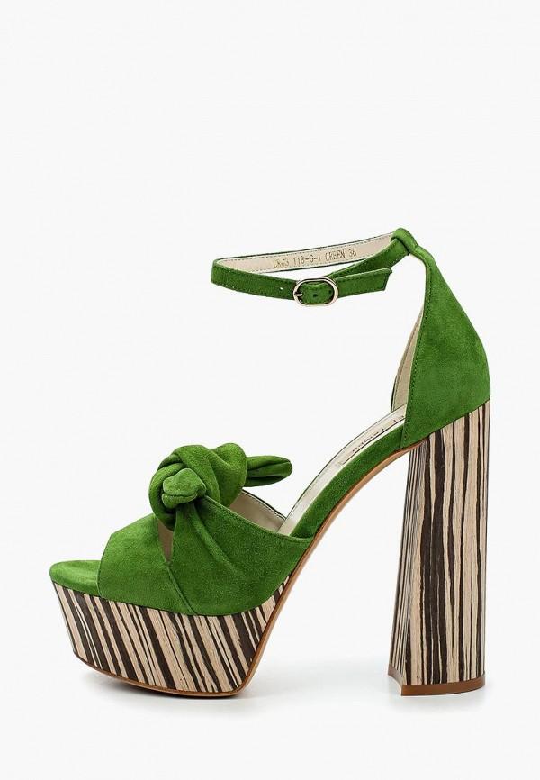 женские босоножки el tempo, зеленые