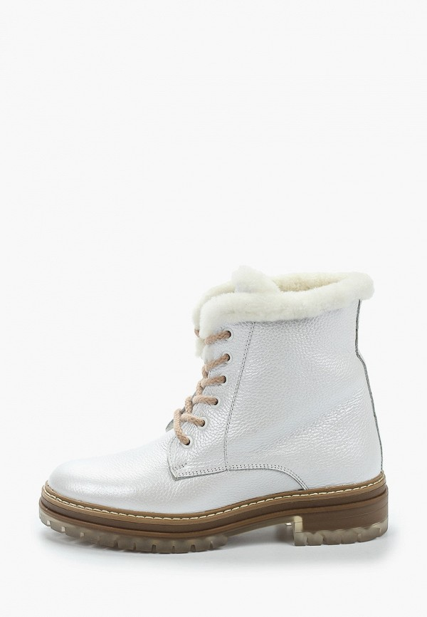 женские высокие ботинки el tempo, белые