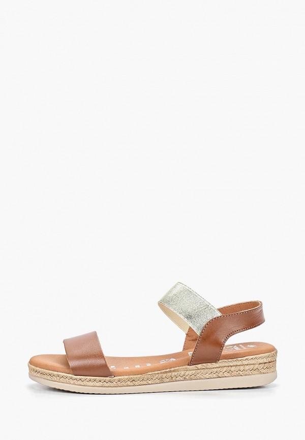 женские сандалии el tempo, коричневые