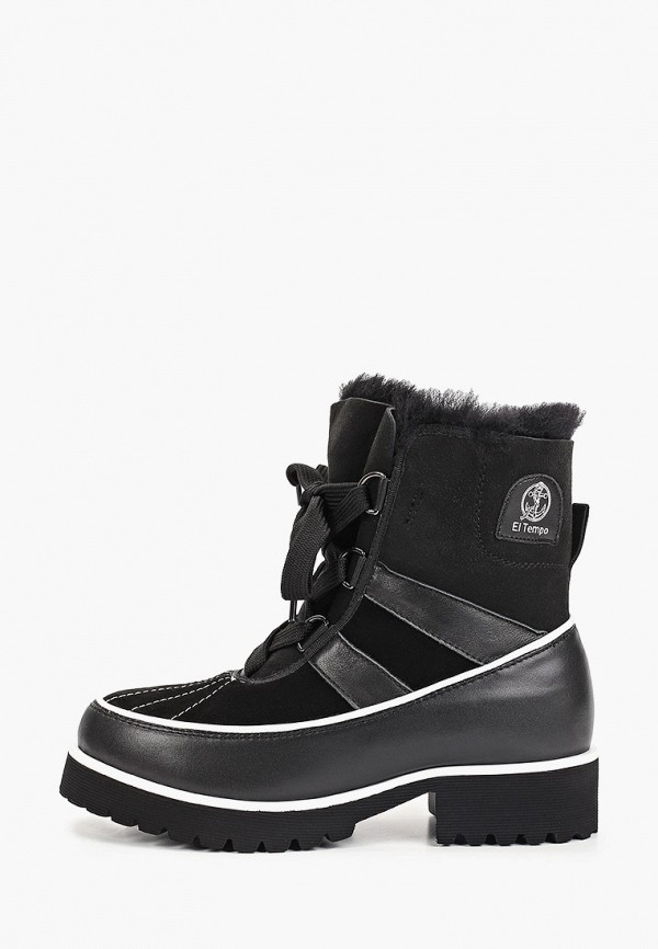 Фото - женские ботинки и полуботинки El Tempo черного цвета