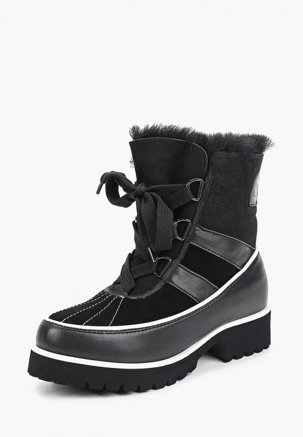Фото 2 - женские ботинки и полуботинки El Tempo черного цвета