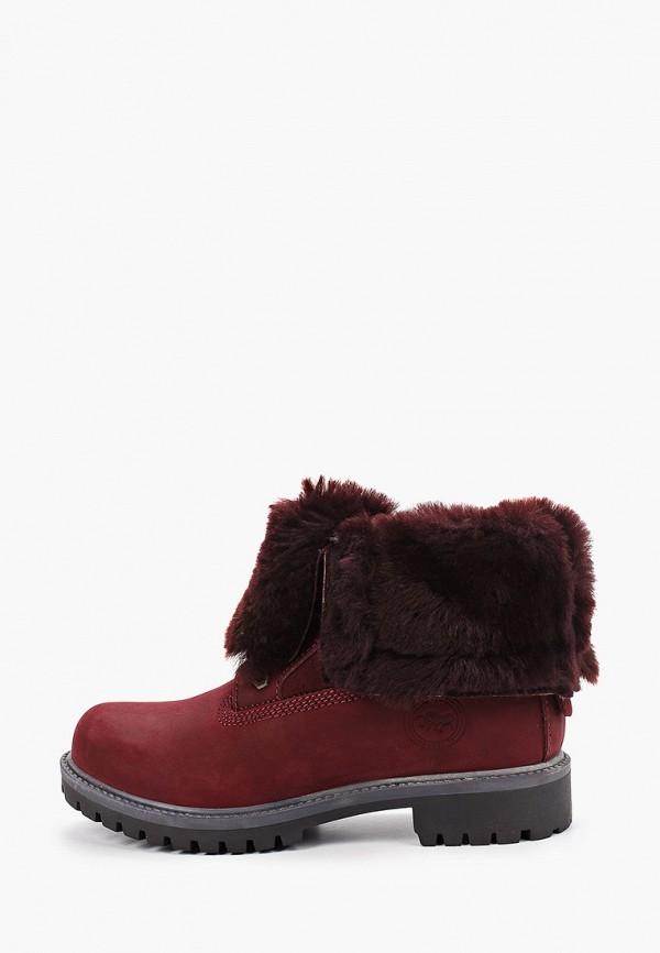 женские высокие ботинки el tempo, бордовые