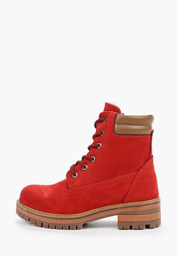 женские высокие ботинки el tempo, красные