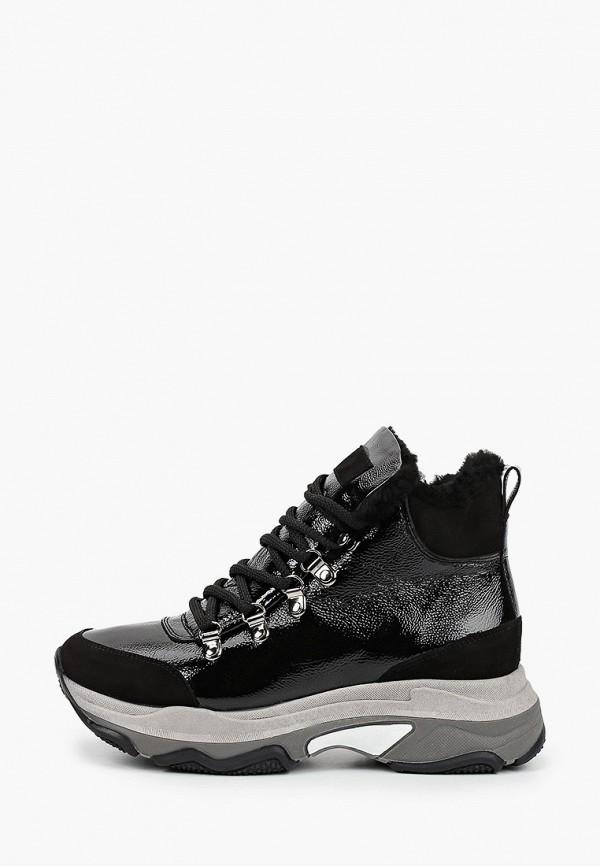 женские высокие кроссовки el tempo, черные