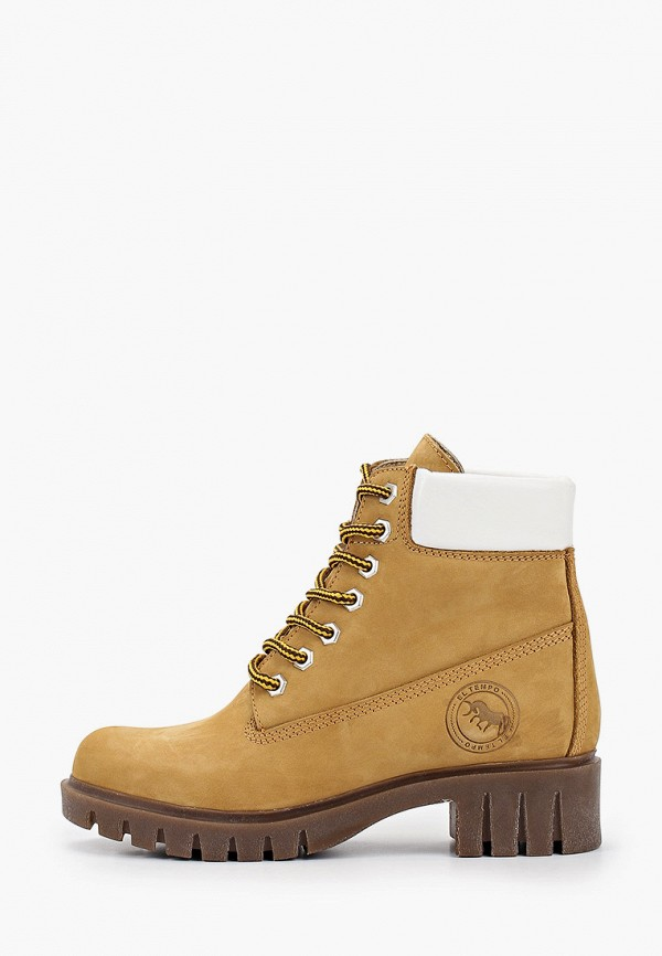 женские высокие ботинки el tempo, желтые
