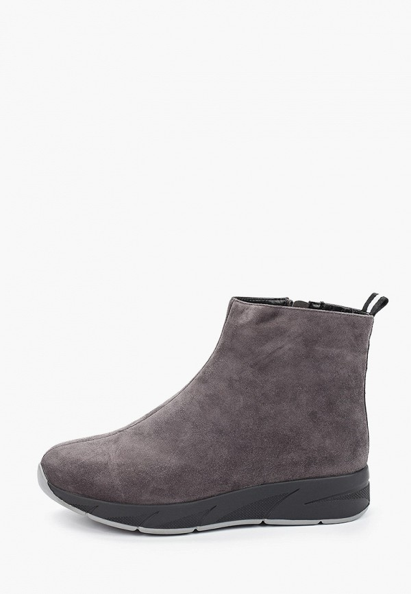 женские высокие ботинки el tempo, серые