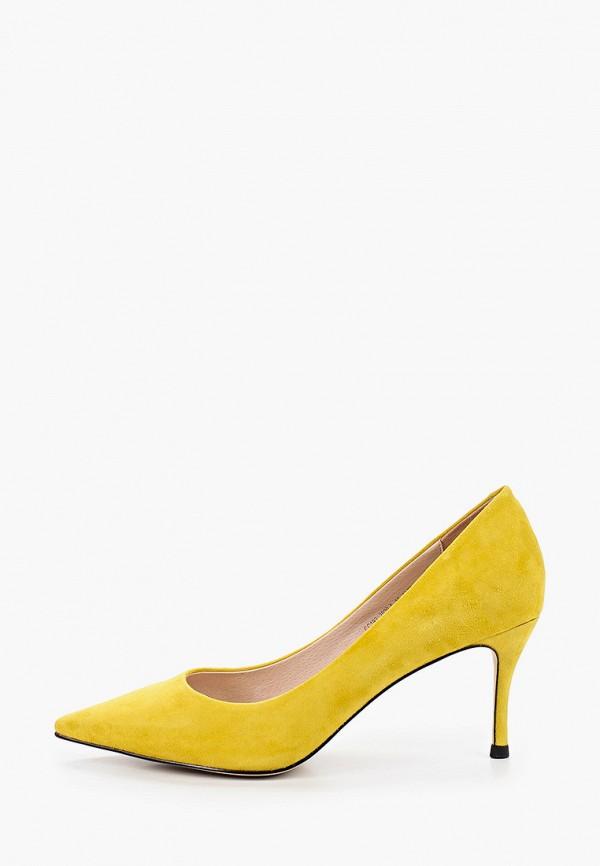 женские туфли-лодочки el tempo, желтые