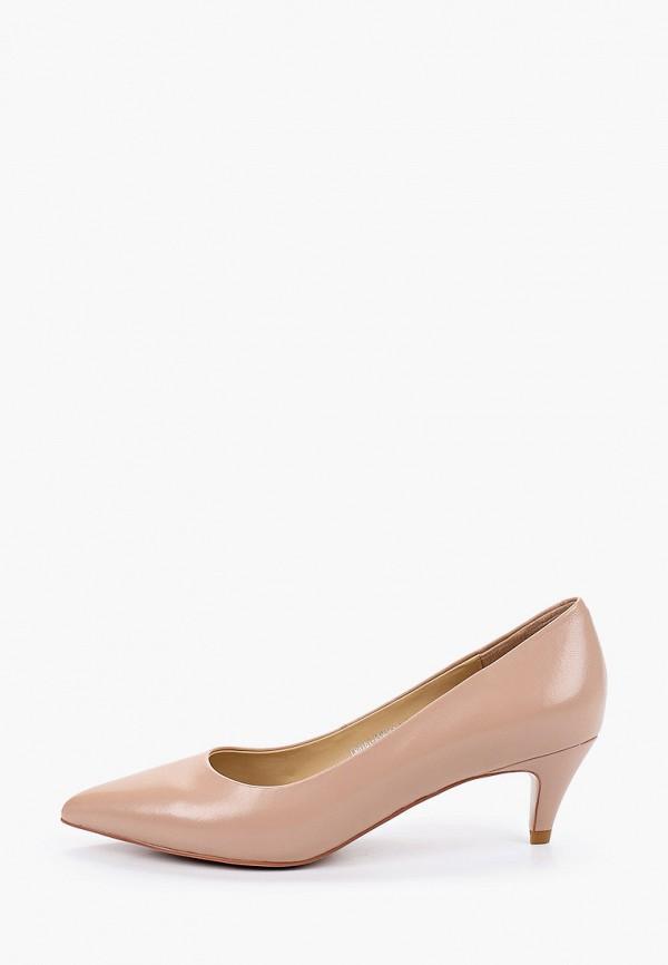 женские туфли с закрытым носом el tempo, бежевые