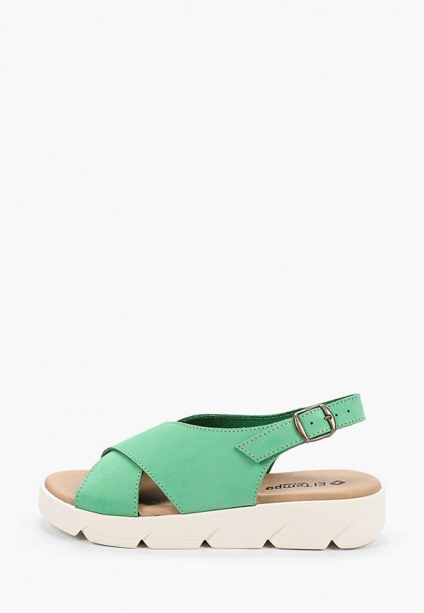 женские сандалии el tempo, зеленые