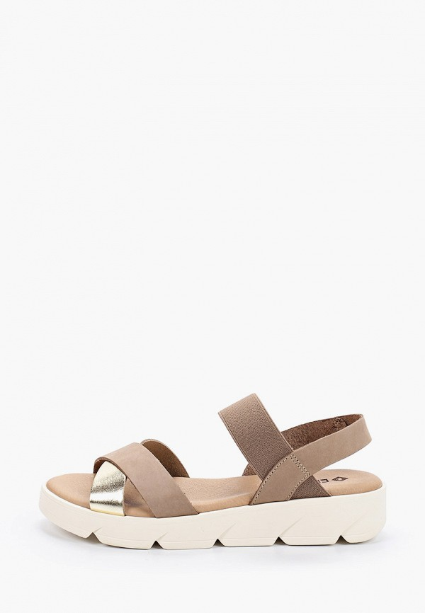 женские сандалии el tempo, бежевые