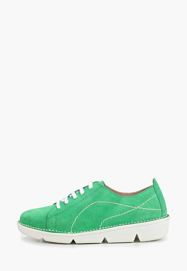 женские низкие кеды el tempo, зеленые