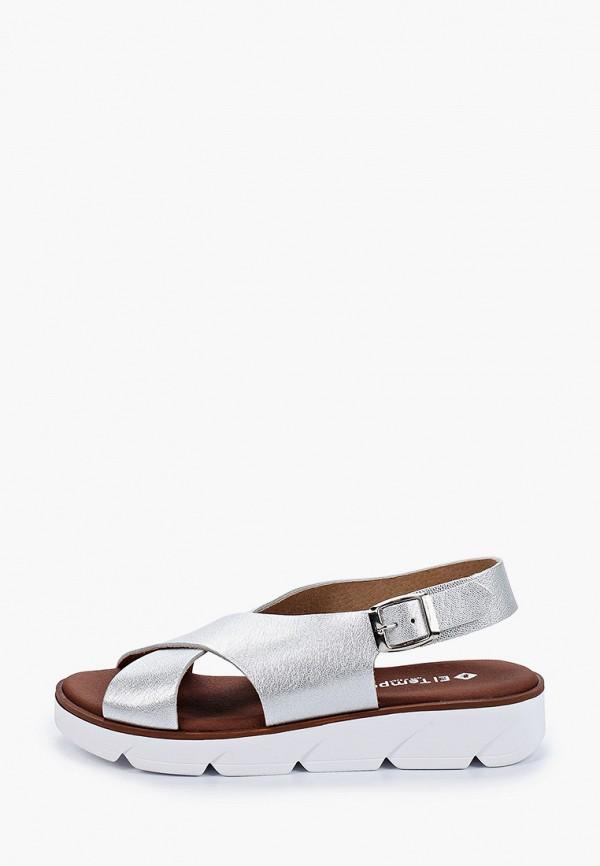 женские сандалии el tempo, серебряные