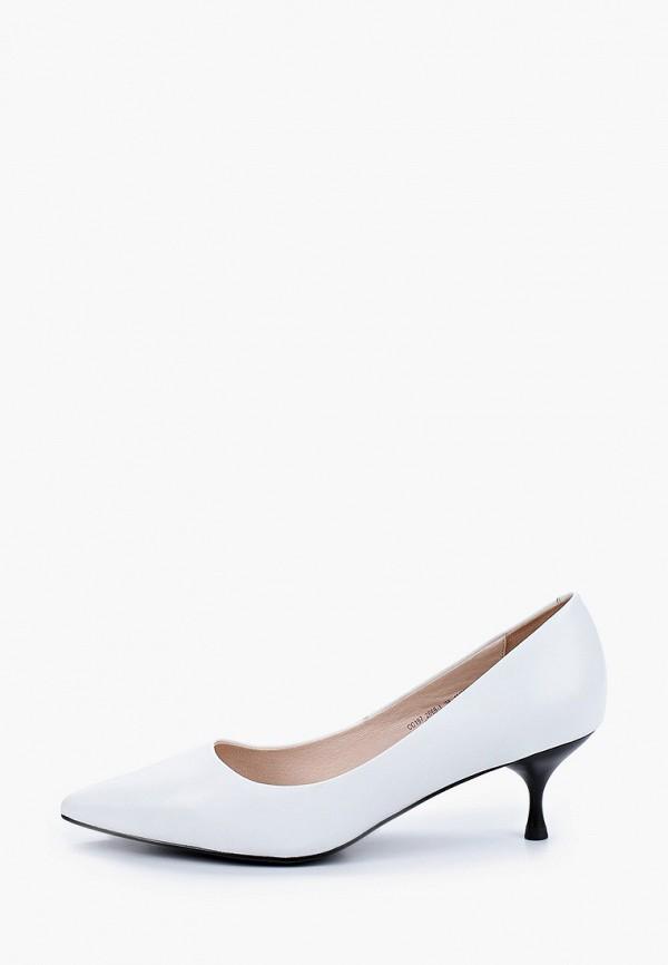 женские туфли-лодочки el tempo, белые