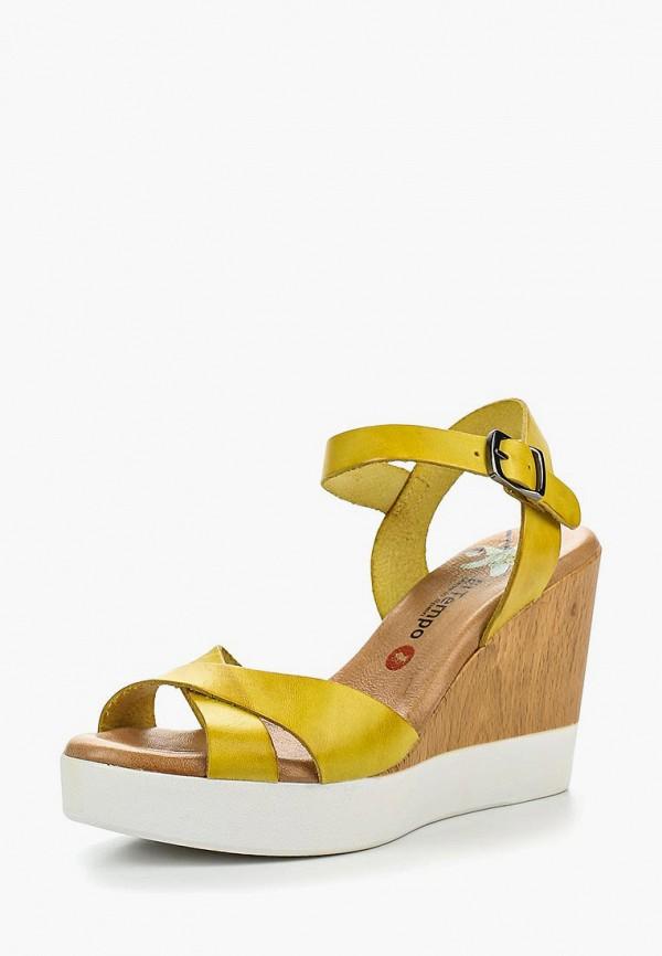 Купить женские босоножки El Tempo желтого цвета
