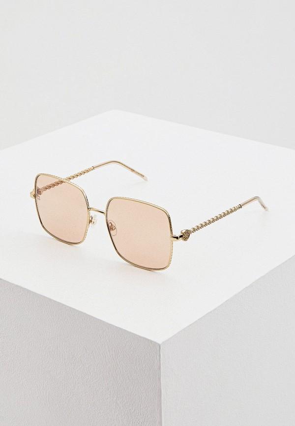 женские квадратные солнцезащитные очки elie saab, золотые