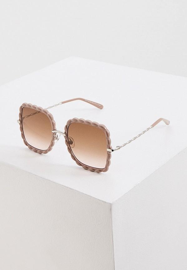 женские квадратные солнцезащитные очки elie saab, бежевые