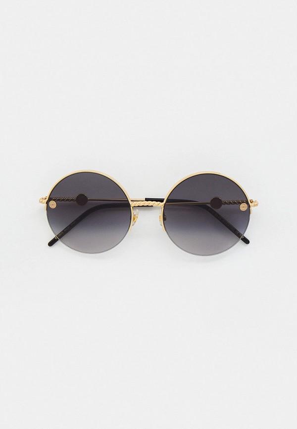 женские круглые солнцезащитные очки elie saab, золотые