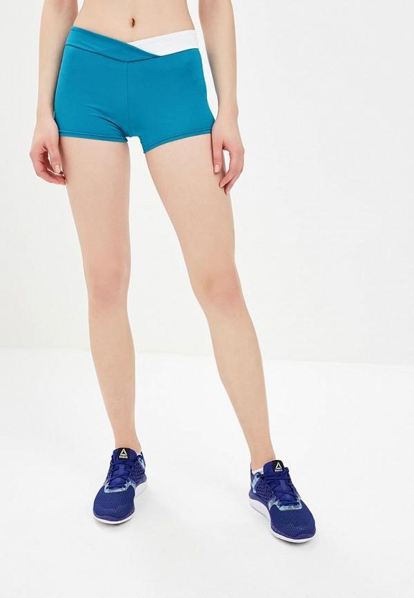 женские спортивные спортивные шорты emdi, голубые