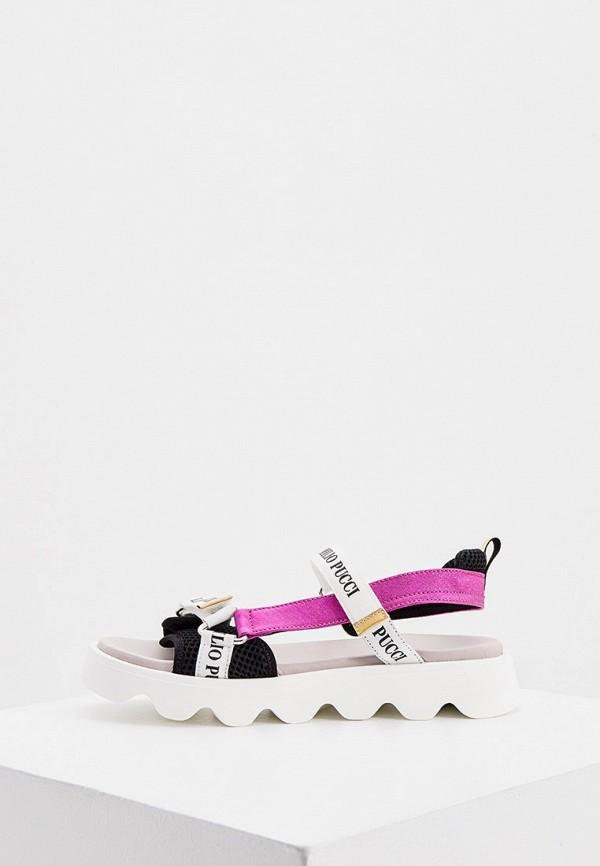 сандалии emilio pucci для девочки, разноцветные
