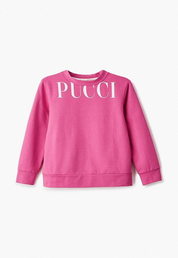 свитшот emilio pucci для девочки, розовый