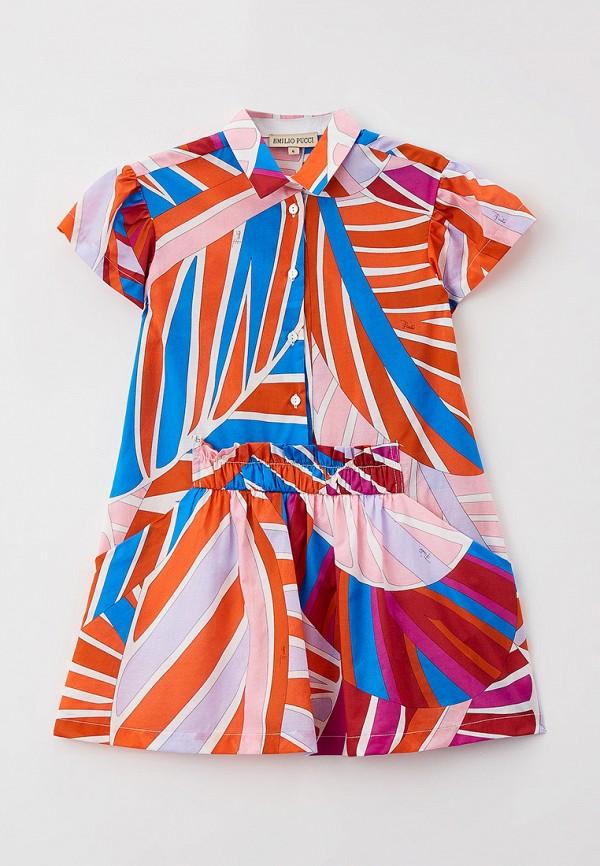 повседневные платье emilio pucci для девочки, разноцветное