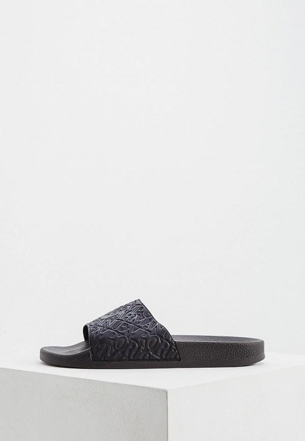 мужские сандалии emporio armani, черные